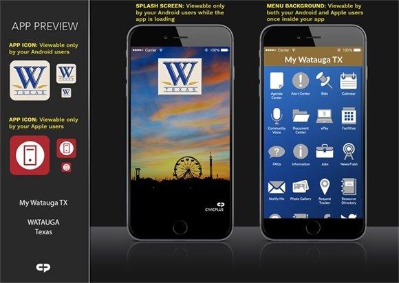 My Watauga, TX Mobile App
