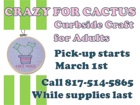 Crazy for Cactus Curbside Craft for Adults