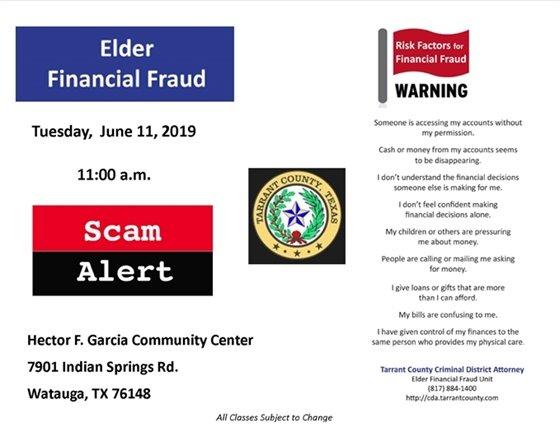 Elder Financial Fraud Warning