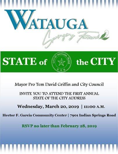 State of the City Invite
