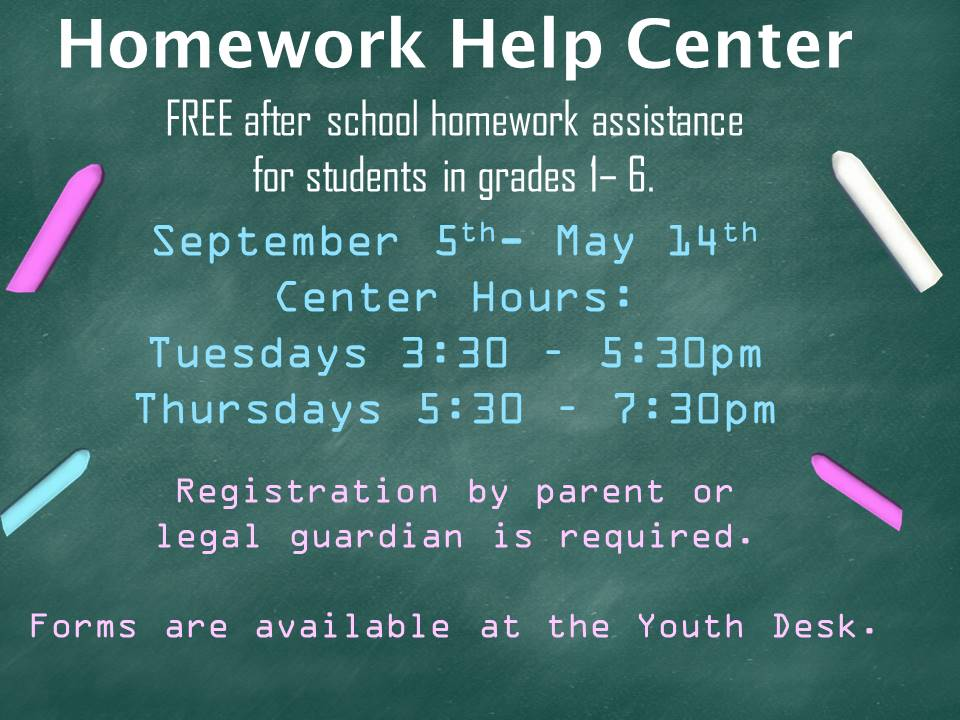 Homework Help Flyer 2019 revised
