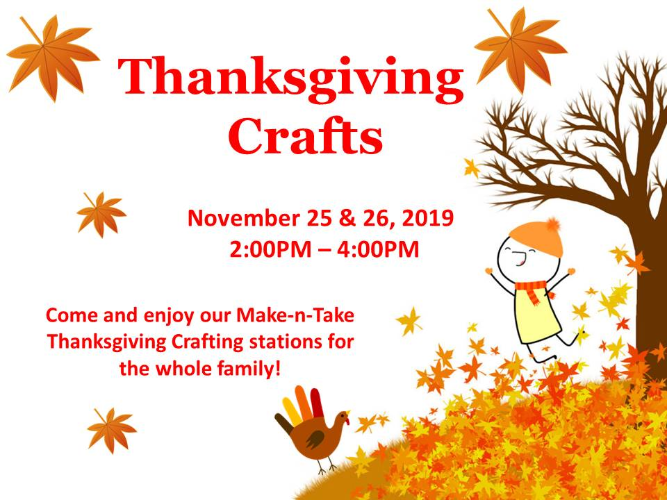 Thanksgiving Craft flyer 2019