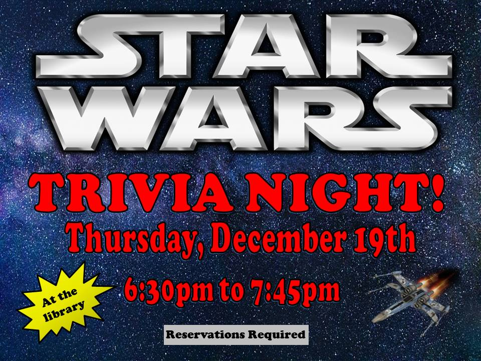 Star Wars Trivia Night Dec 2019