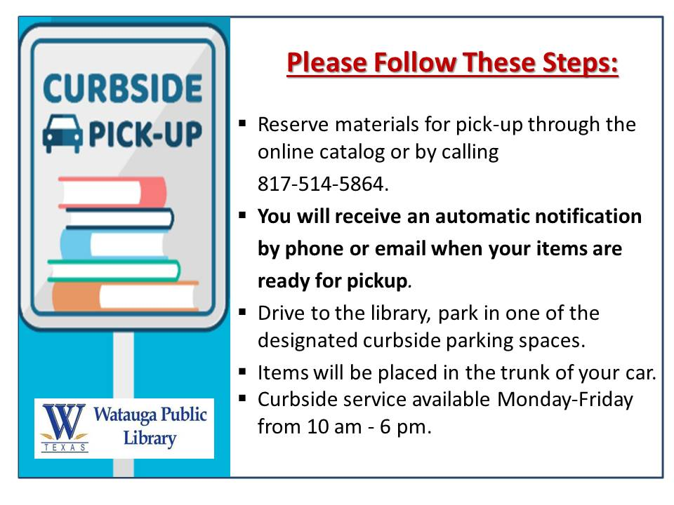 Curbside Pickup Update June 3, 2020