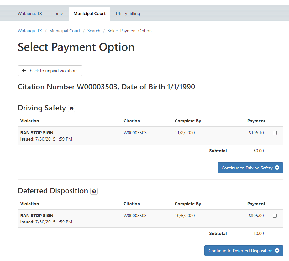 Payment options 1