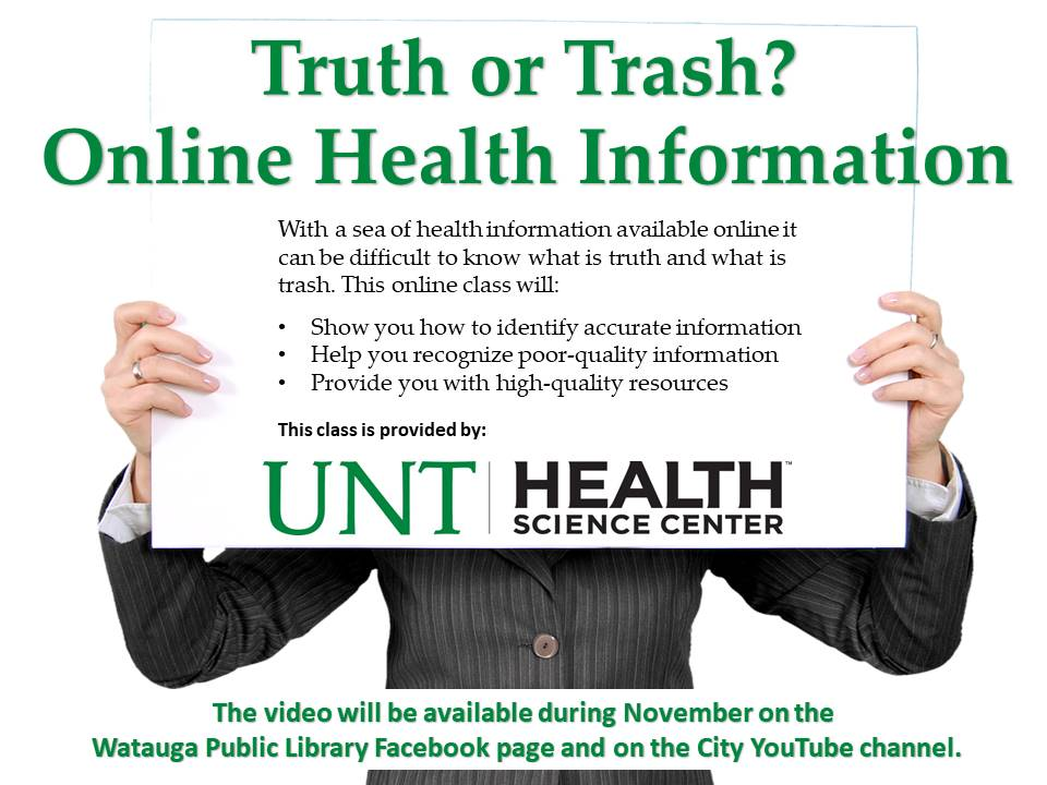 Truth or Trash UNTHSC Nov 2020