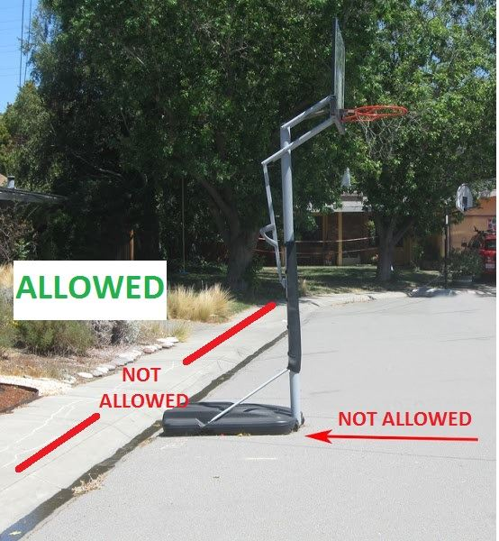 basketball goal row