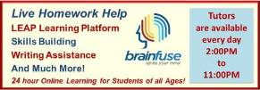 Brainfuse Homework Help and Live Tutors