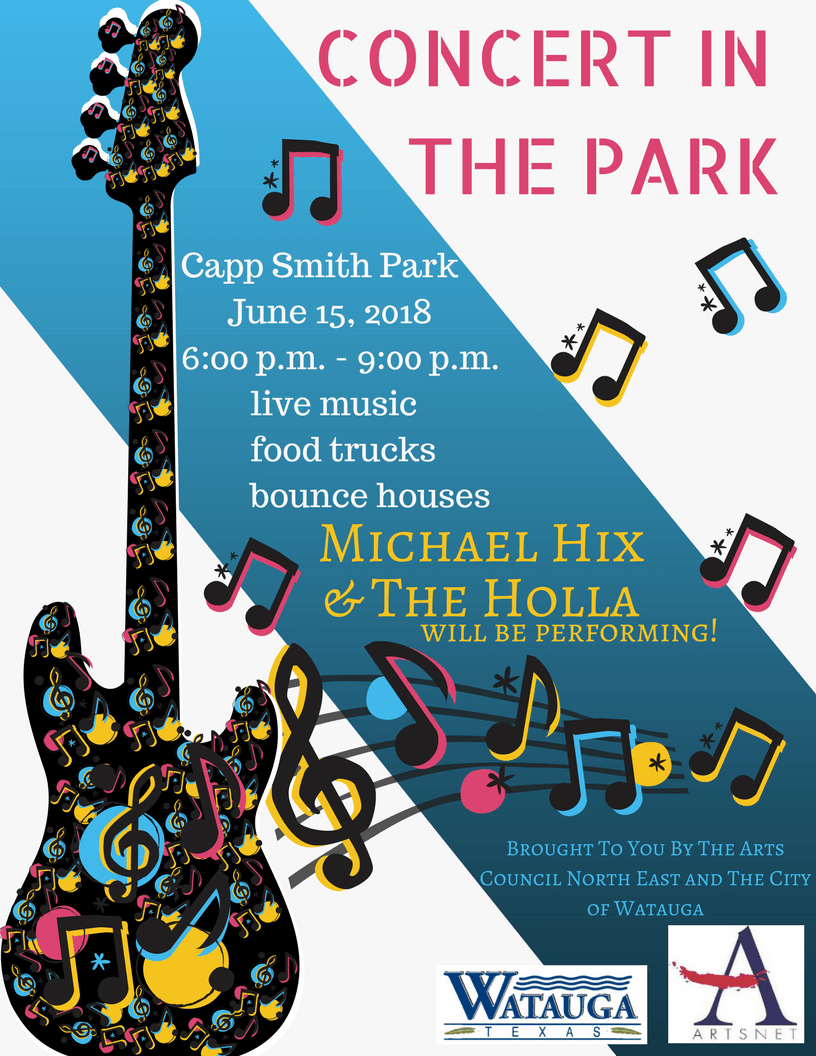 concerts in the Park Michael Hix The Holla flyer