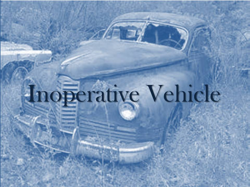 Inoperative Vehicle
