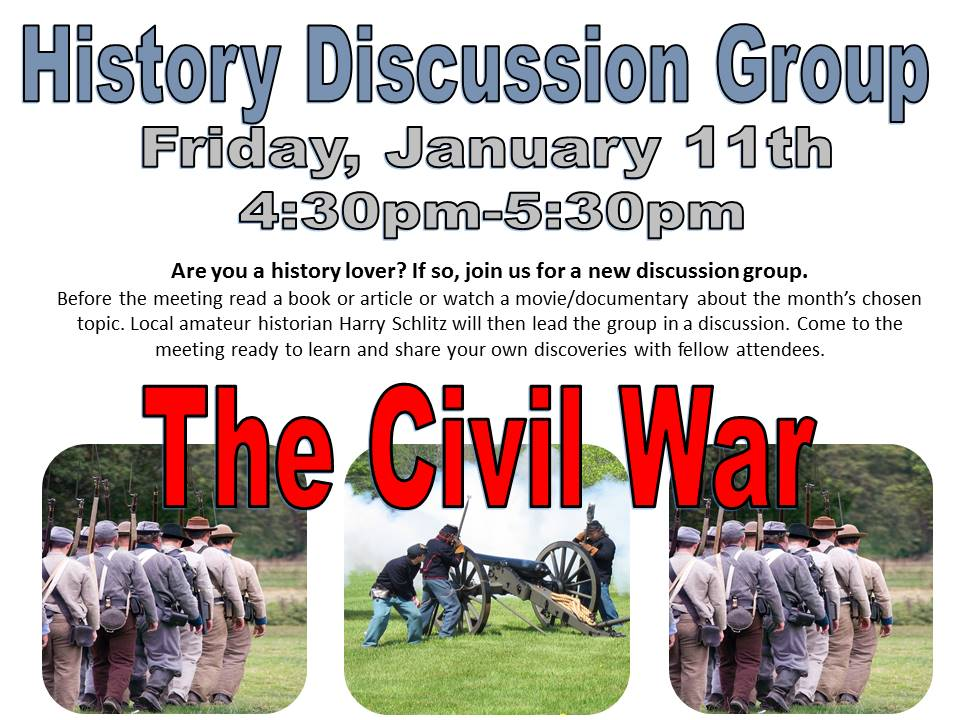 History Discussion Group Jan 2018