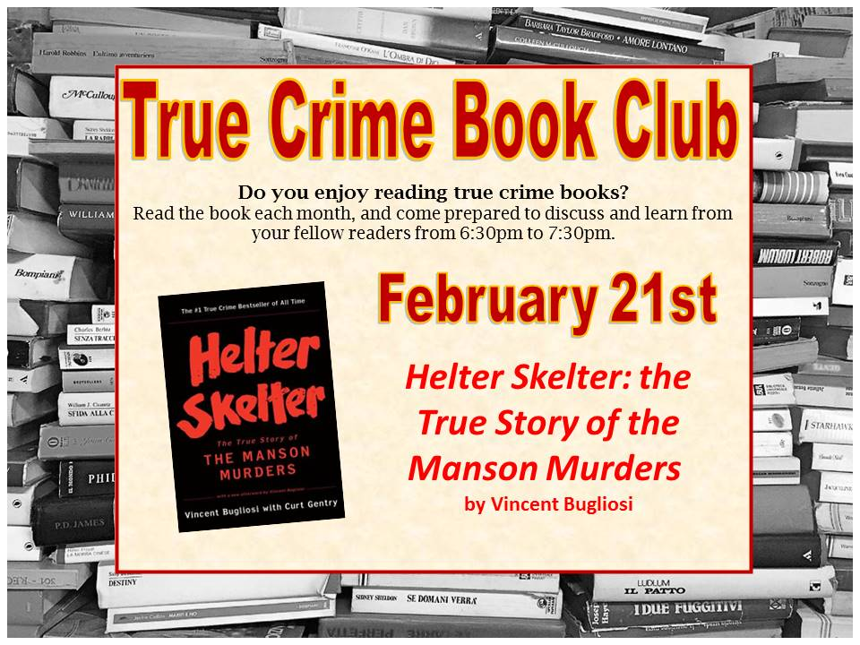 True Crime Book Club Feb 2019