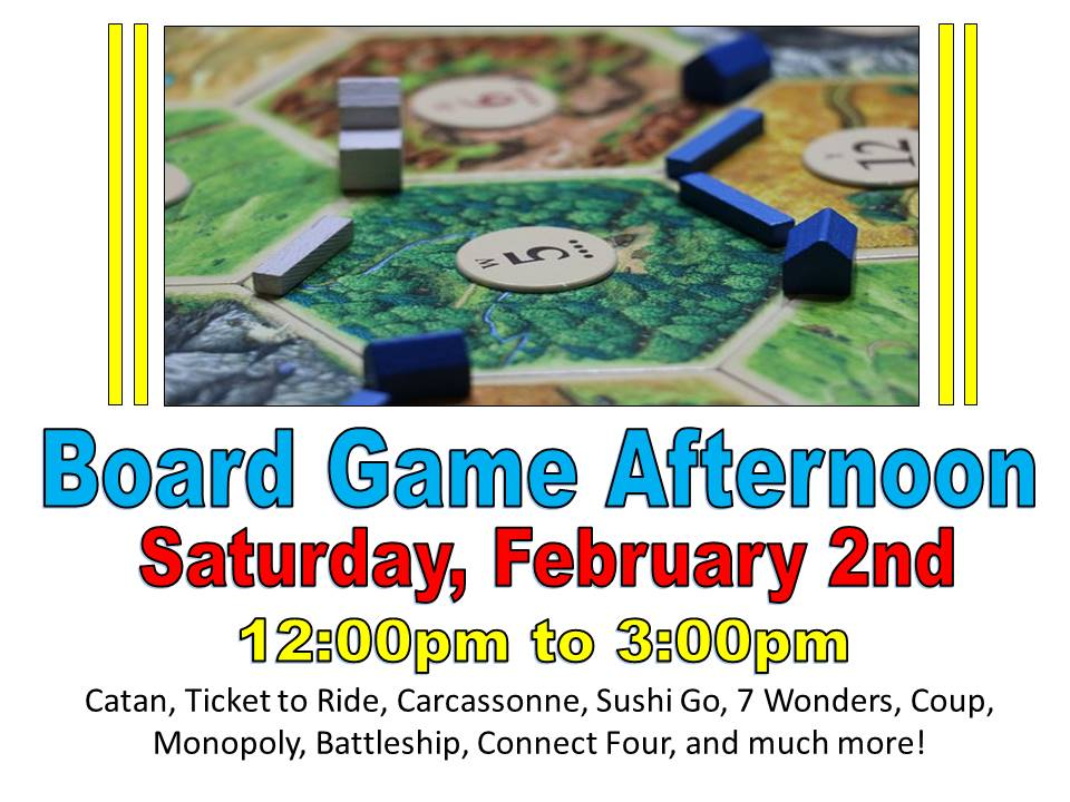 Board Game Afternoon Feb 2019
