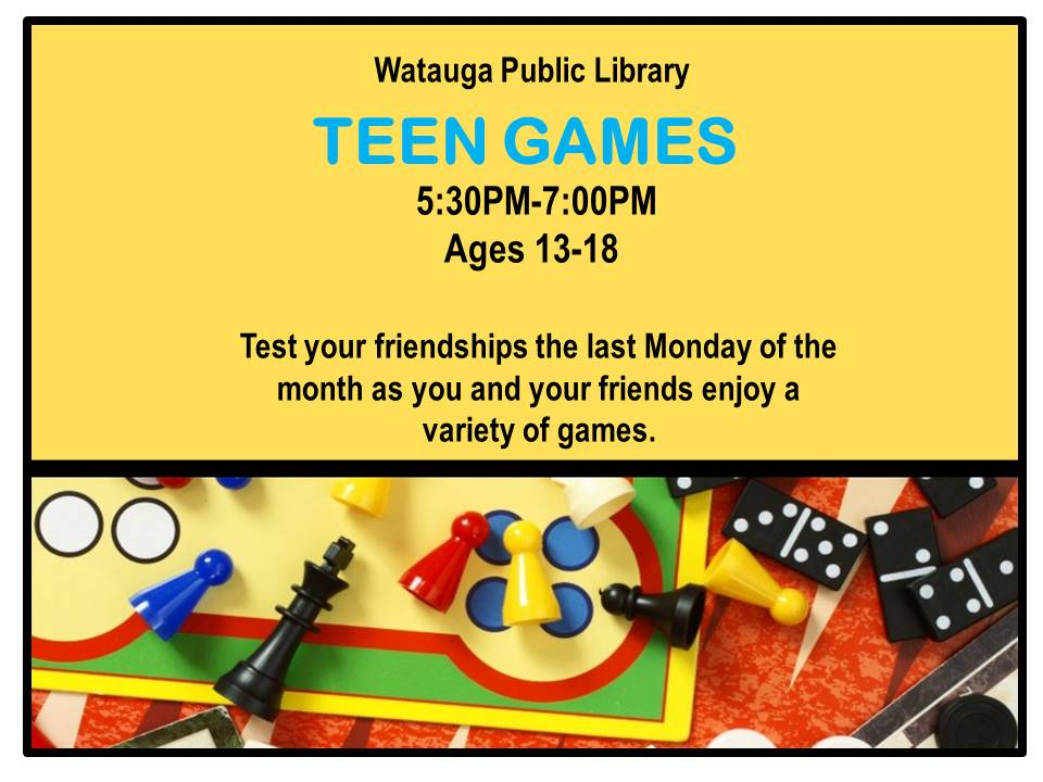 teen games flyer