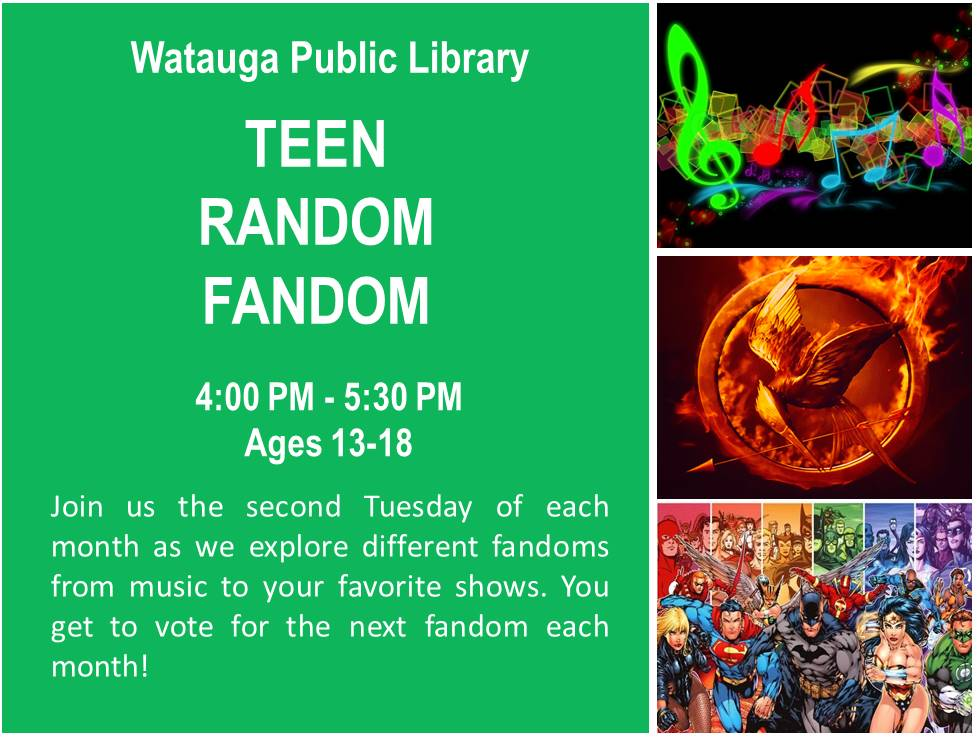 Teen random fandom flyer
