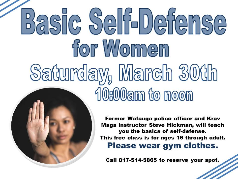 Self Defense for Women March 2019