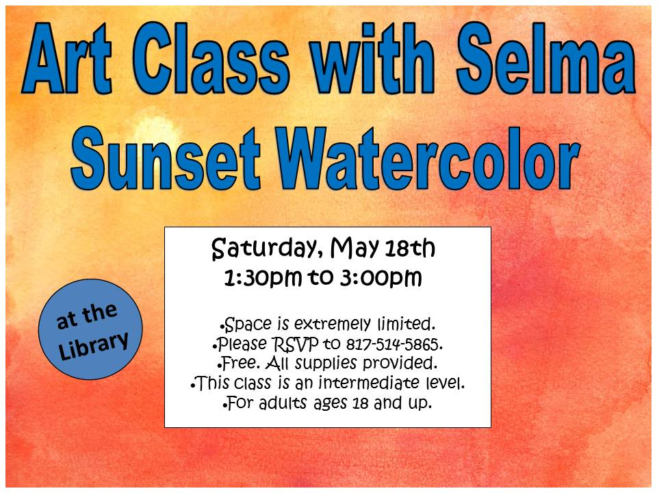 Selma Art Class Sunset Watercolor May 2019