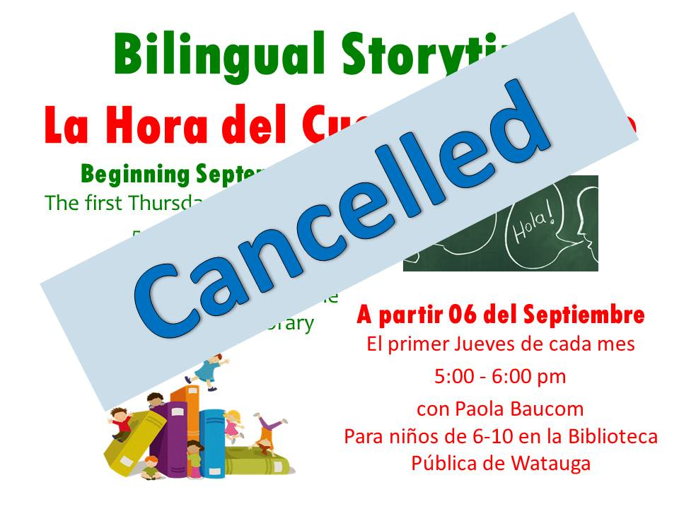 Bilingual Storytime cancel 2019