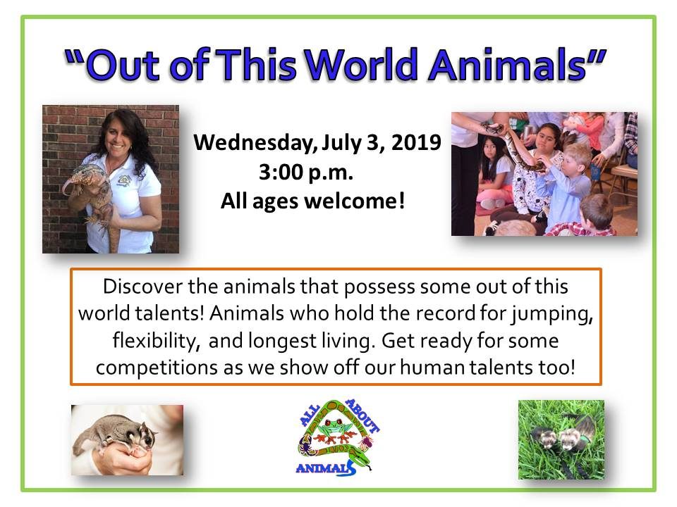 Out of this world animals 7-3-19