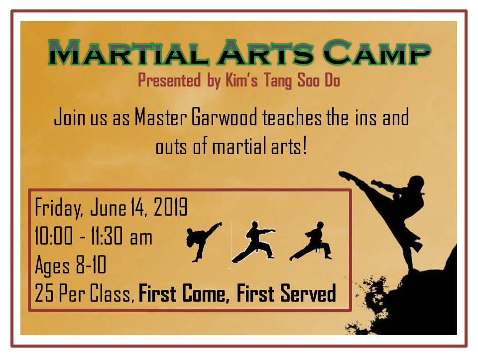 Martial Arts Camp 2019