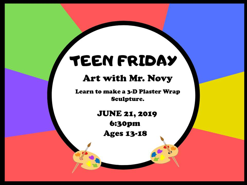 Teens art with Mr. Novy 6-21-19