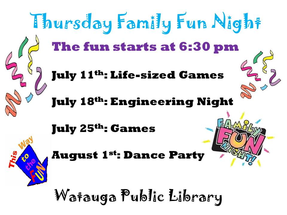 July Family Fun Night 2019 Flyer
