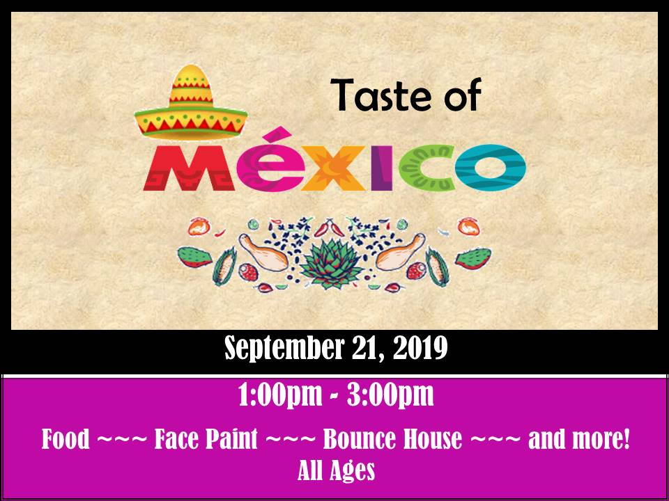 Taste of Mexico Flyer