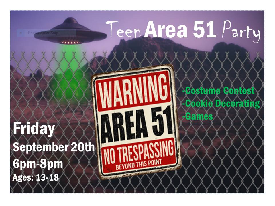 Teen Area 51 Party 9-20