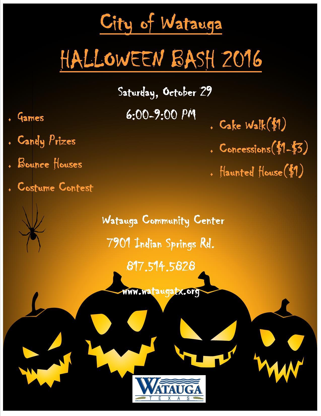 Wataugas Halloween Bash 2020, October 27 Watauga, TX   Official Website