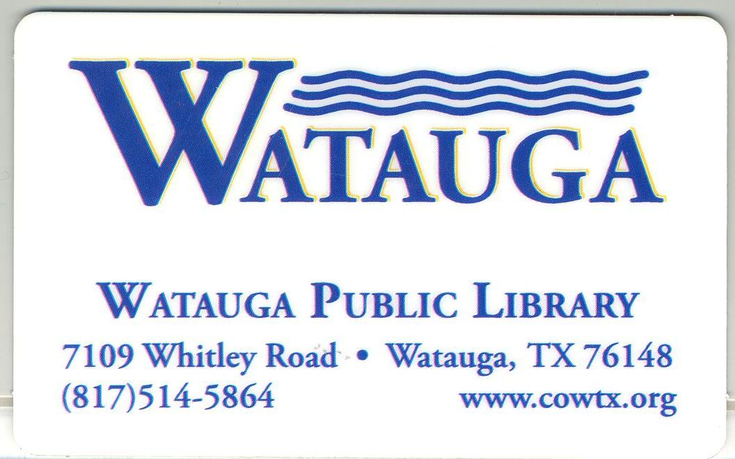 Watauga Library Card